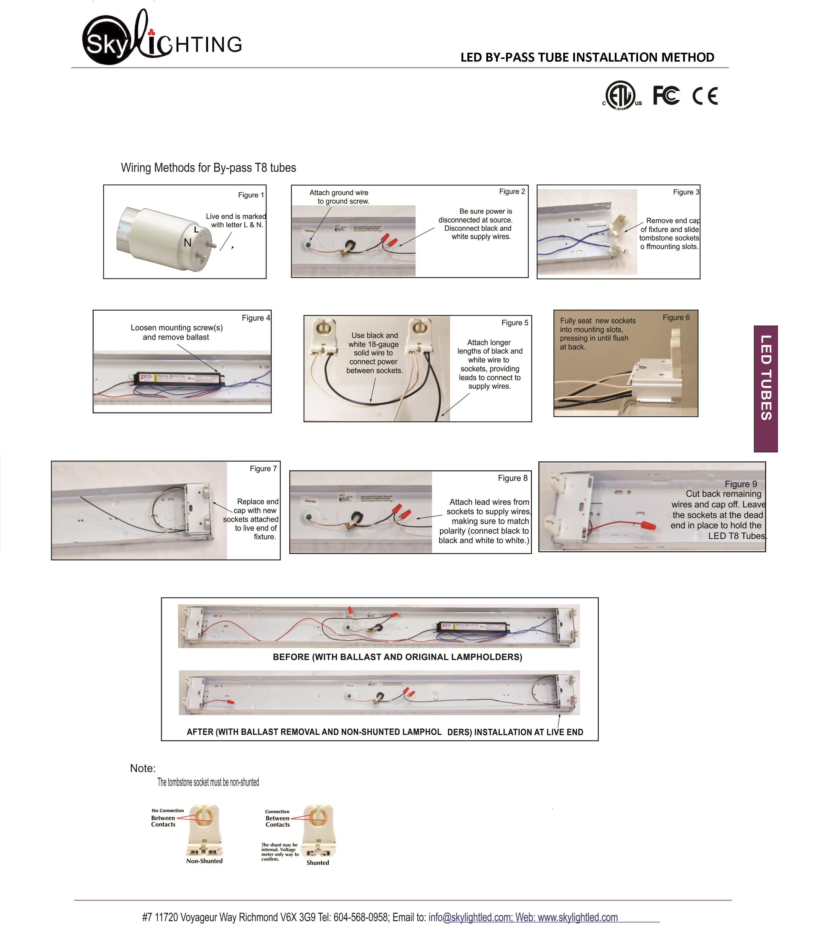 LED T8 Tube : T8N-2\'8W-NW-C
